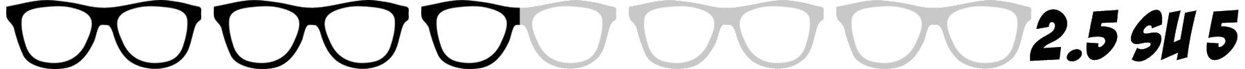 occhiali nerd 2.5 su 5