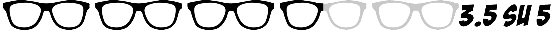 occhiali nerd 3.5 su 5