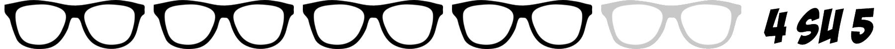 occhiali nerd 4 su 5