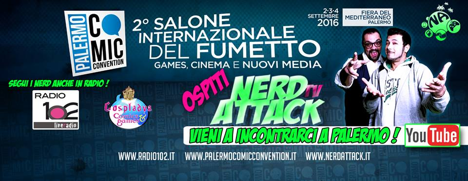 banner nerd attack palermo comic convention (2)