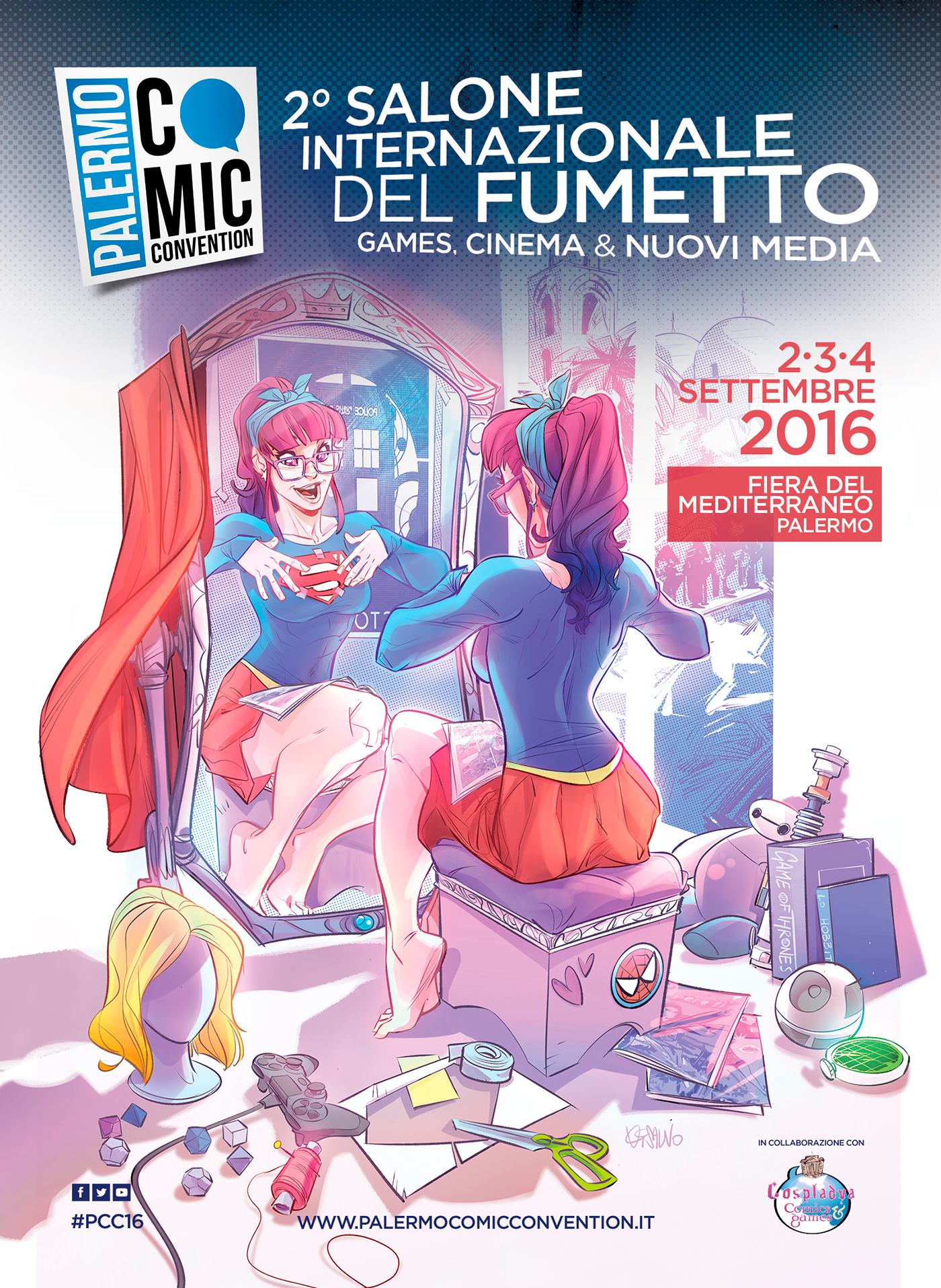 manifesto palermo comic convention